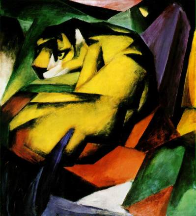 Tiger, Franz Marc [Public domain], via Wikimedia Commons